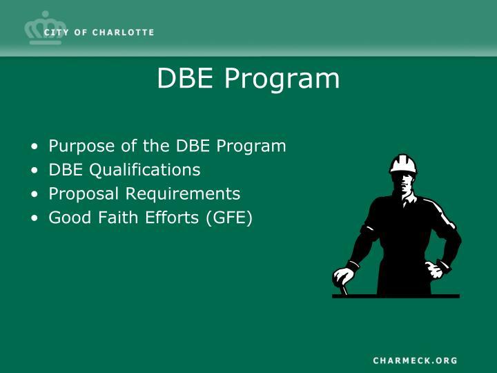 DBE Program