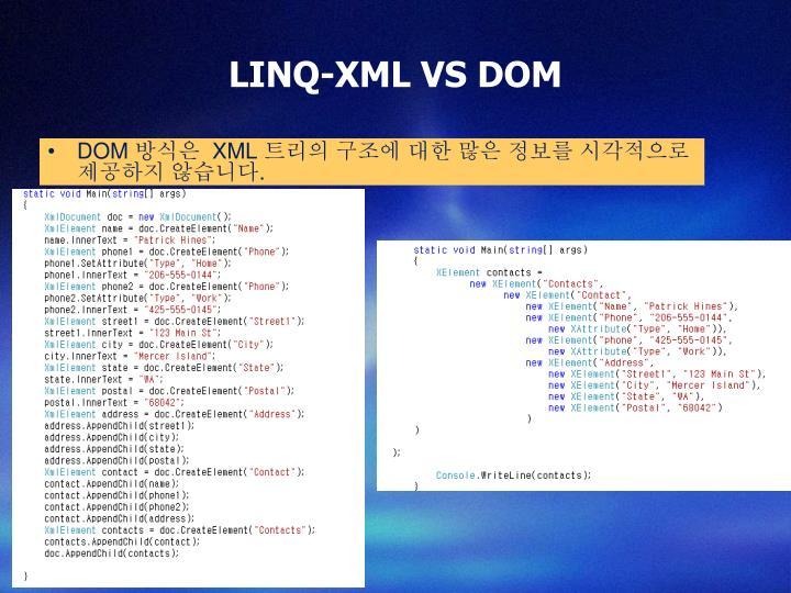LINQ-XML VS DOM