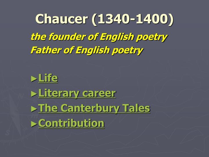 Chaucer (1340-1400)
