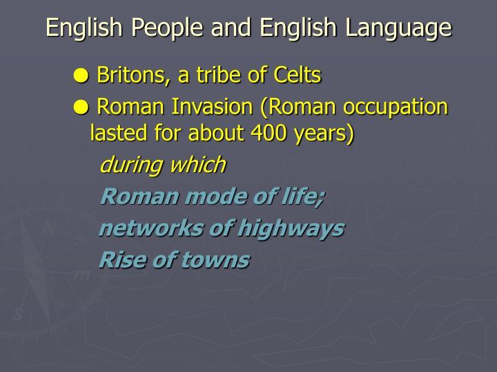 English People and English Language