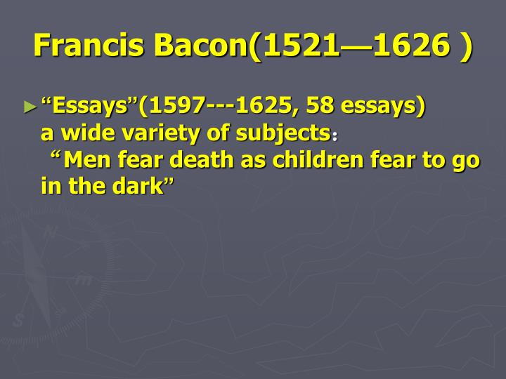 Francis Bacon(1521