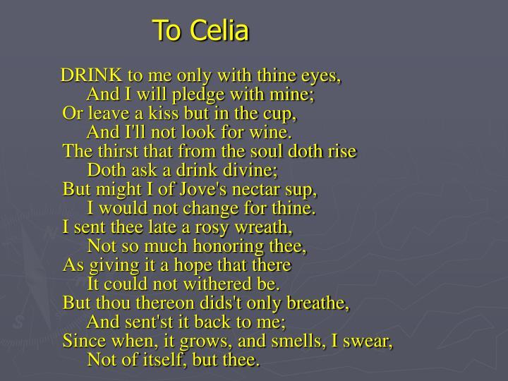 To Celia