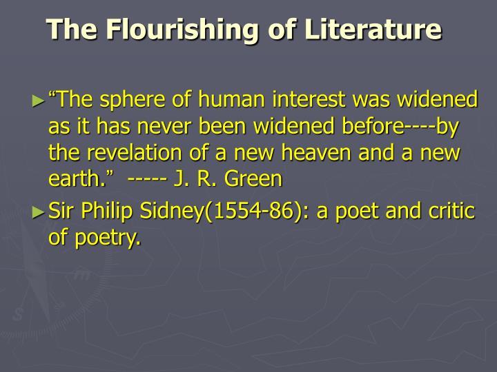 The Flourishing of Literature