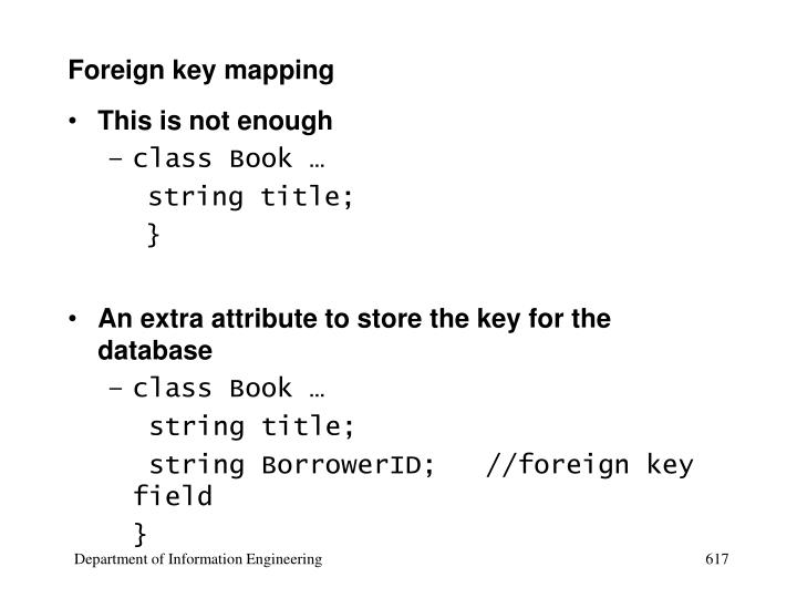 Foreign key mapping