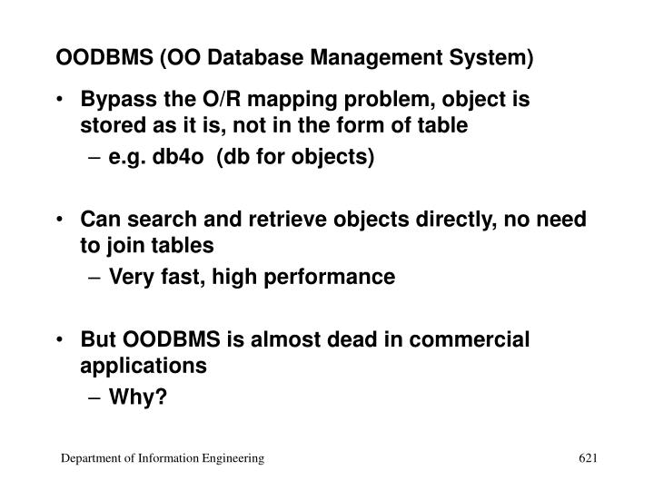 OODBMS (OO Database Management System)