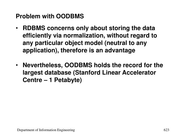 Problem with OODBMS