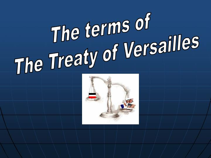 The terms of