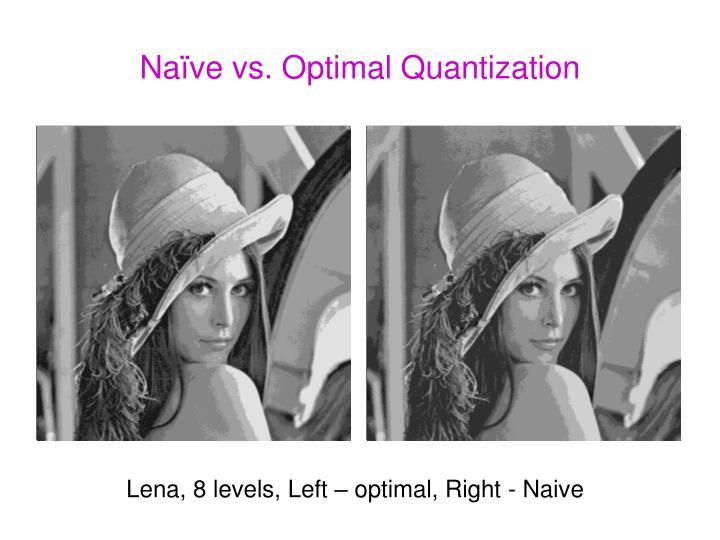 Naïve vs. Optimal Quantization