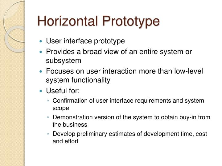 Horizontal Prototype