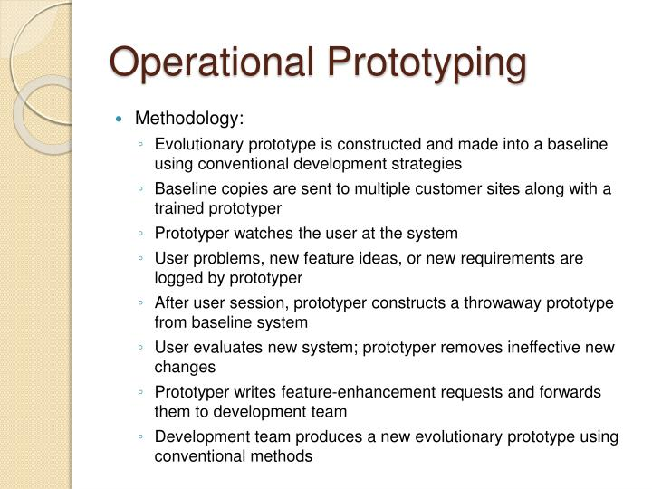 Operational Prototyping