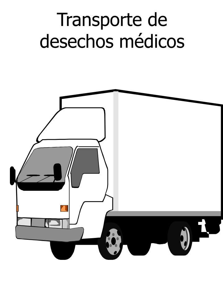 Transporte de desechos médicos