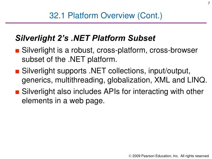 32.1 Platform Overview (Cont.)