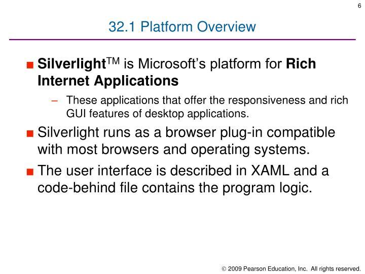 32.1 Platform Overview