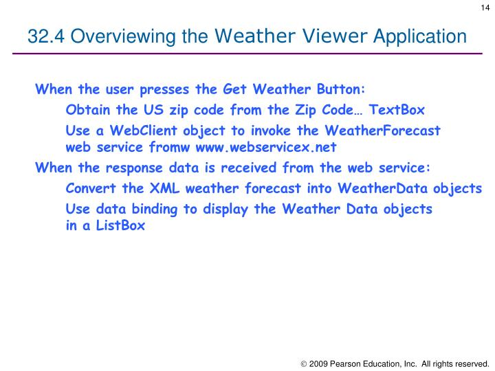32.4 Overviewing the