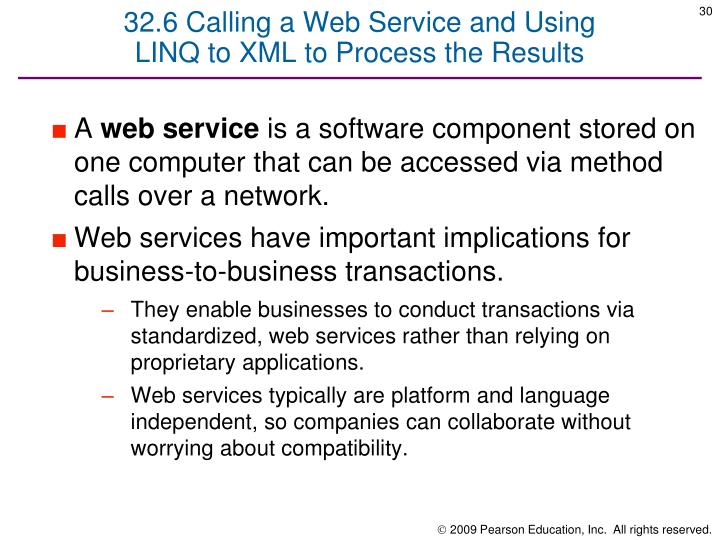 32.6 Calling a Web Service and Using