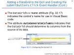 adding a datagrid to the gui and creating the submitbutton s click event handler cont1