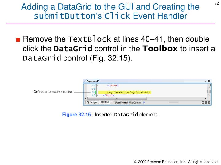 Adding a DataGrid to the GUI and Creating the
