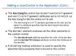 adding a usercontrol to the application cont1