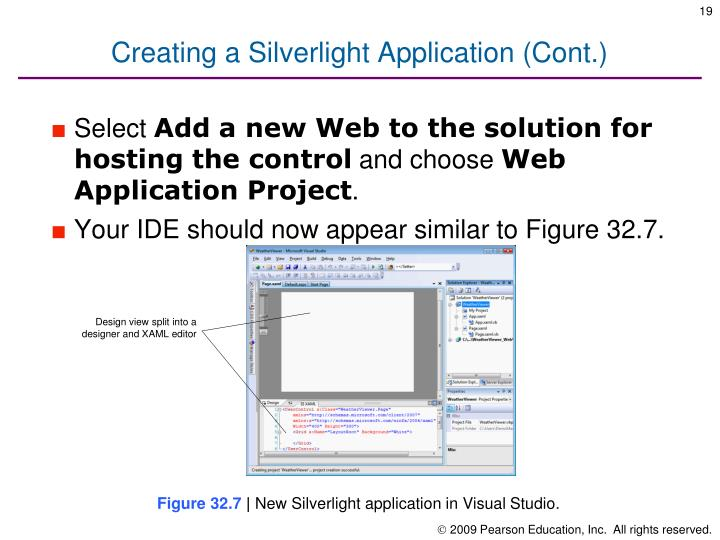 Creating a Silverlight Application (Cont.)