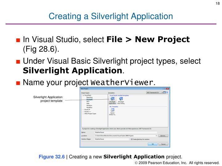 Creating a Silverlight Application