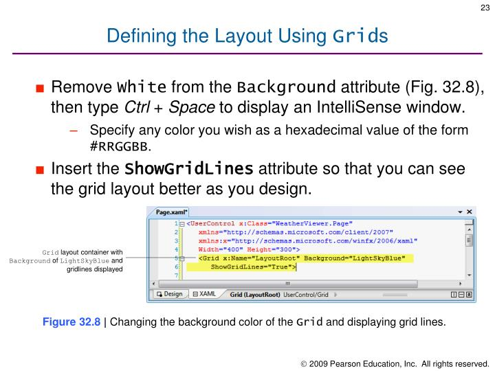 Defining the Layout Using