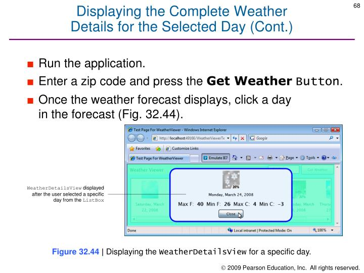 Displaying the Complete Weather