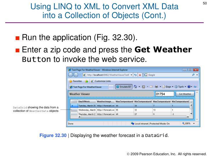Using LINQ to XML to Convert XML Data