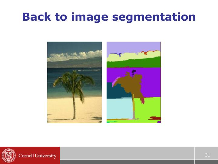 Back to image segmentation
