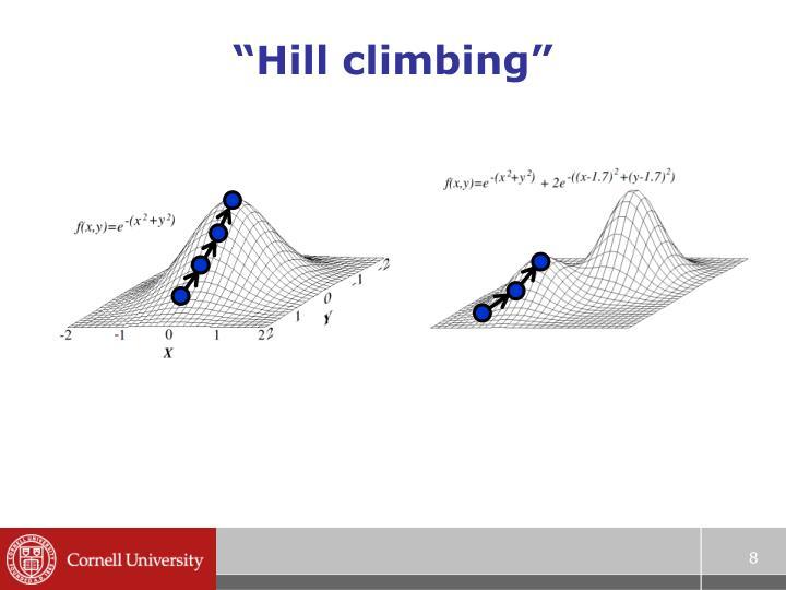 """Hill climbing"""
