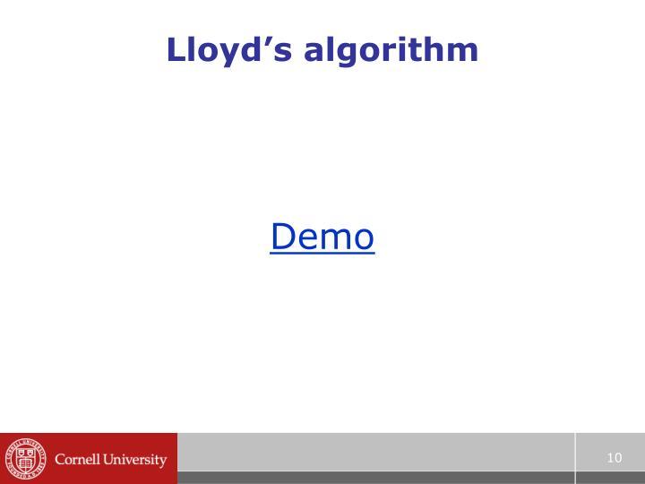 Lloyd's algorithm