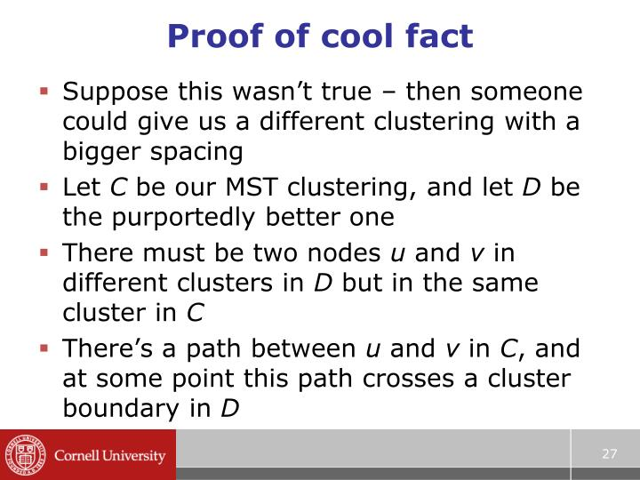Proof of cool fact