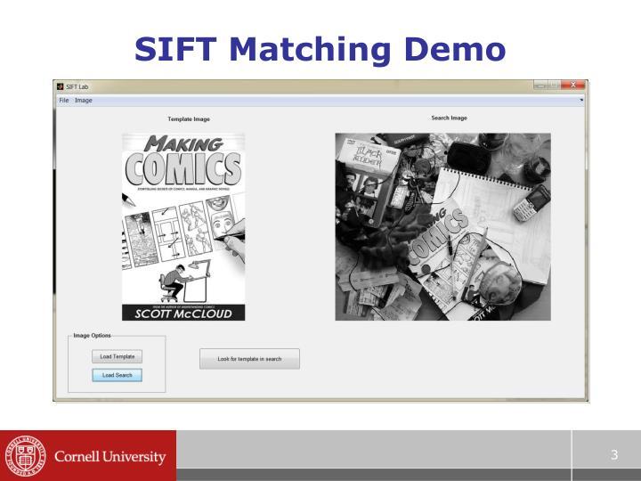 SIFT Matching Demo