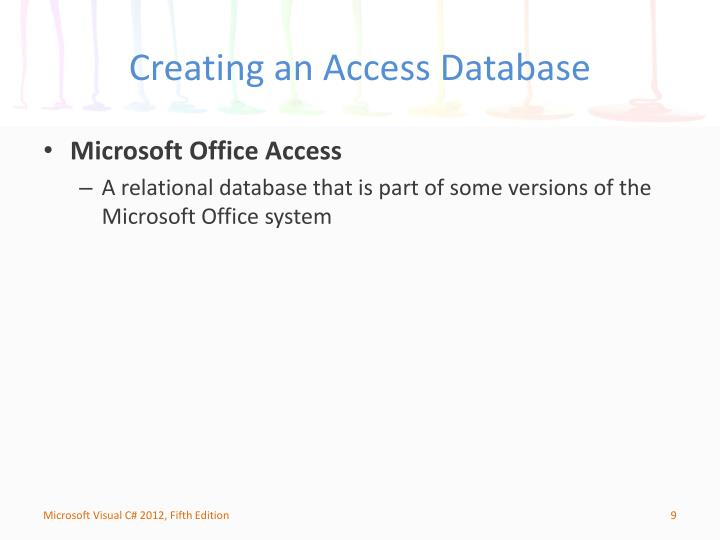 Creating an Access Database