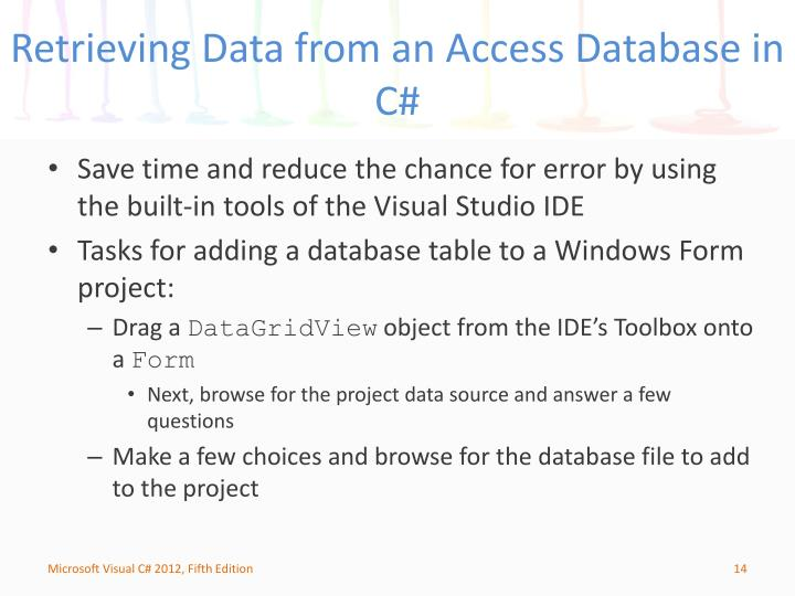 Retrieving Data from an Access Database in C#