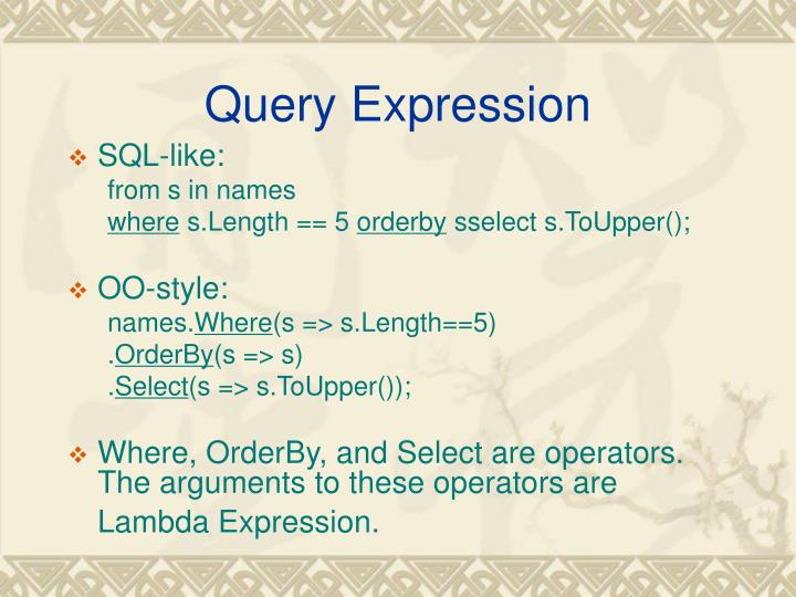 Query Expression