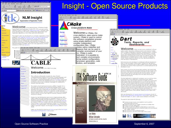 Insight - Open Source Products