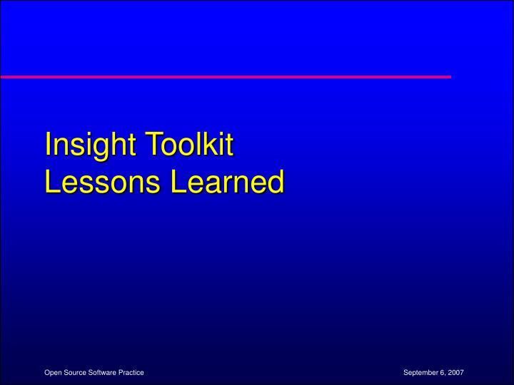 Insight Toolkit