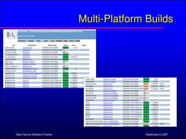 Multi-Platform Builds