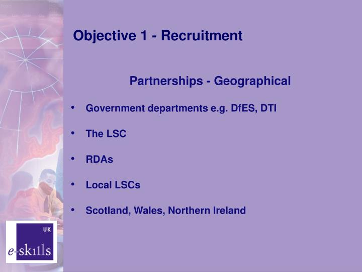 Objective 1 - Recruitment
