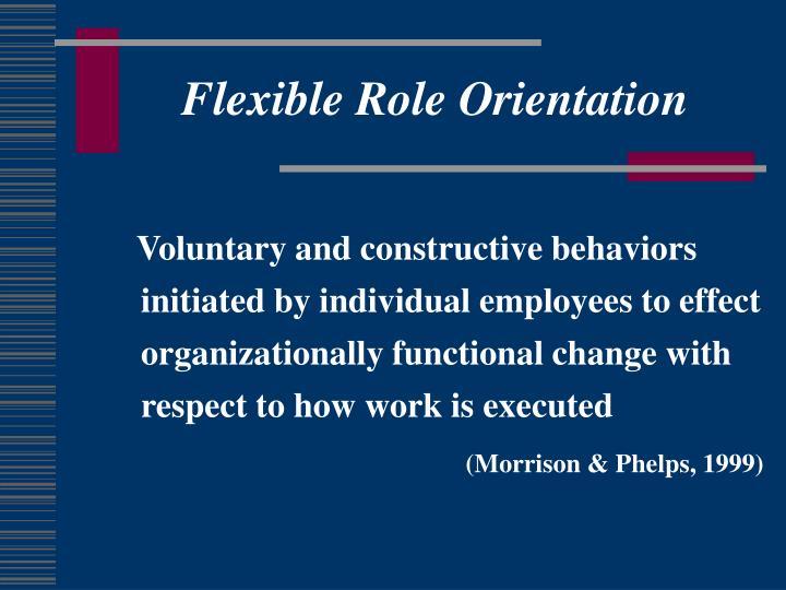 Flexible Role Orientation
