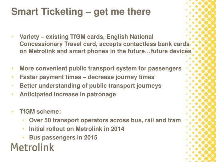 Smart Ticketing – get me there