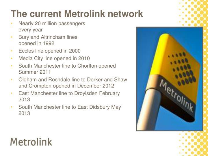The current Metrolink network