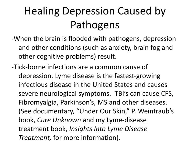 Healing Depression Caused by Pathogens