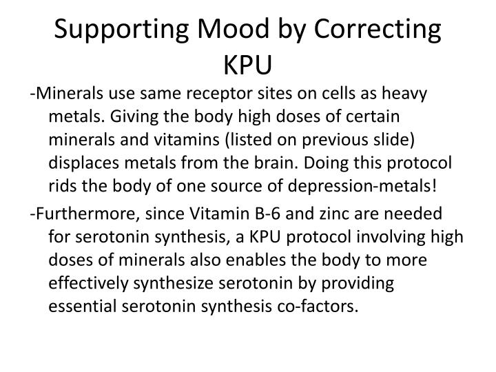 Supporting Mood by Correcting KPU