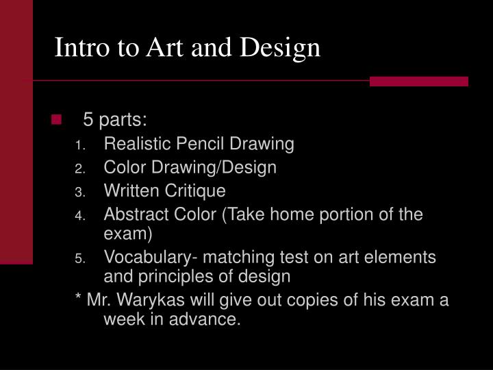 Intro to Art and Design