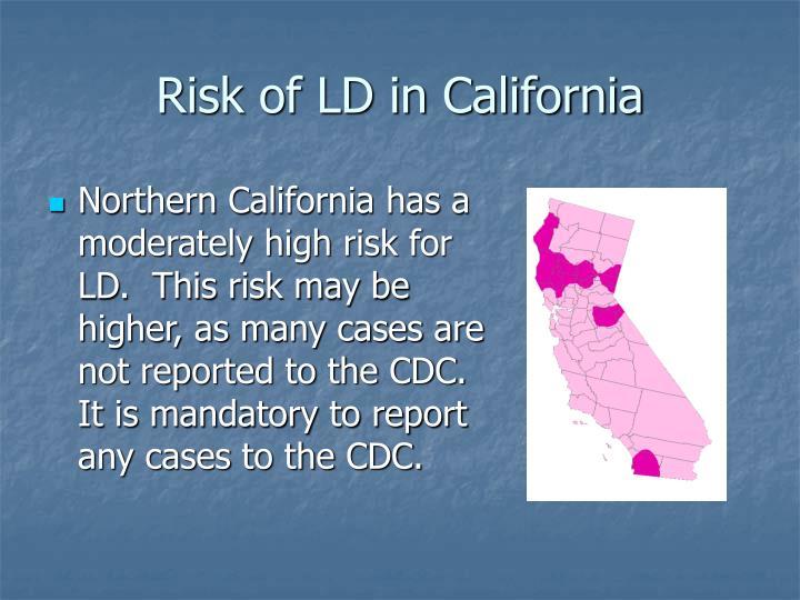Risk of LD in California