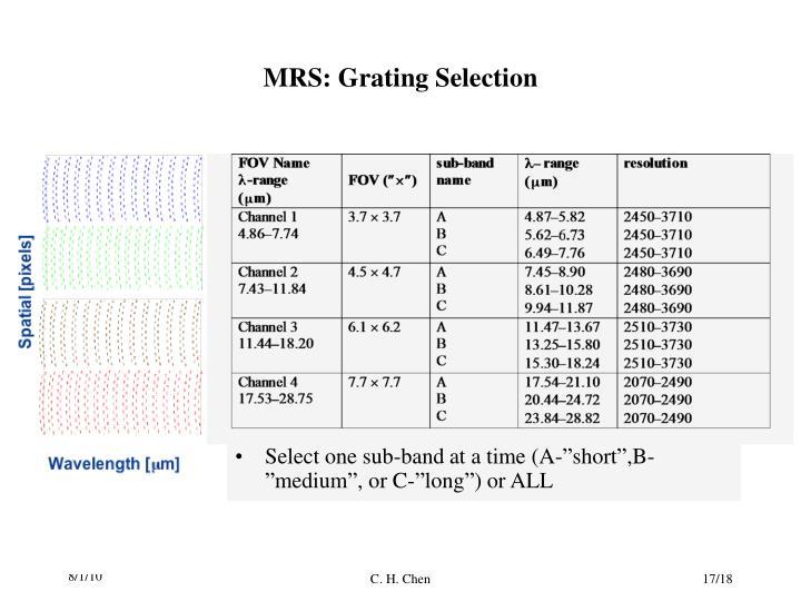 MRS: Grating Selection