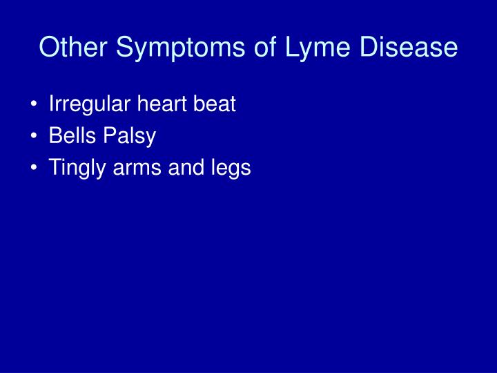Other Symptoms of Lyme Disease