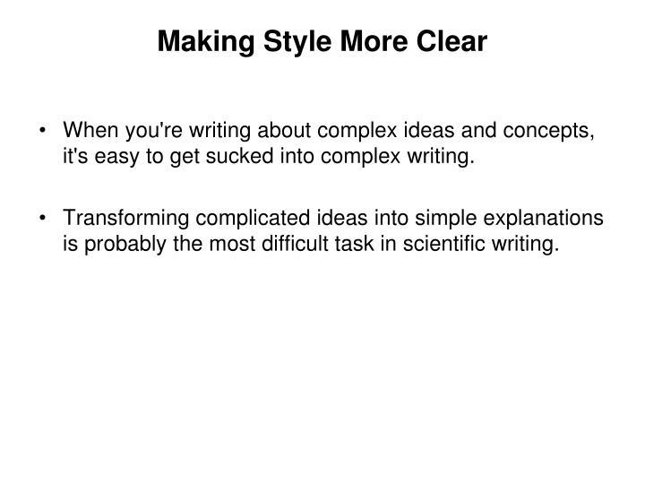Making Style More Clear
