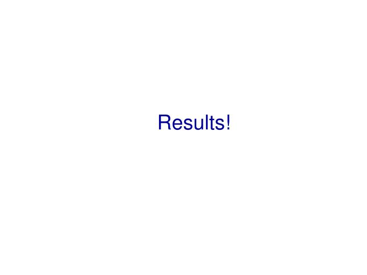 Results!